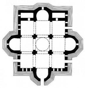 Plan de la Cathédrale d'Etchmiadzine