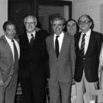 On reconnait de gauche à droite : K. Yilmazian, J. Varjabédian, A. Babayan, R. Attoyan, B. Garabédian, Maître M. Paoli, V. Bozadjian, A. Harounian